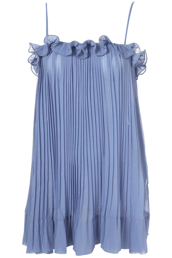 Top Shop - Blue Pleated Plain Cami, summer 2010