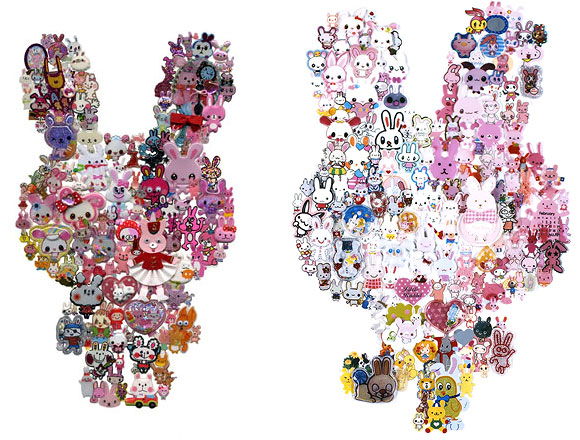 Takako Kimura, Rabbit, Stickers Series, 2009