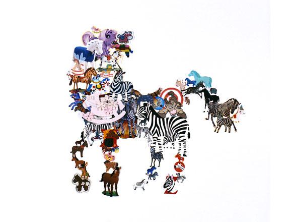 Takako Kimura, Horse, Stickers Series, 2009