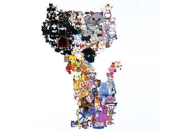 Takako Kimura, Cat, Stickers Series, 2009
