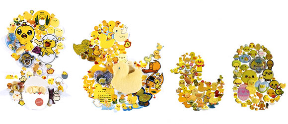 Takako Kimura, Chick and Duck, Stickers Series, 2009