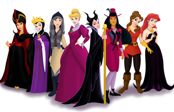 Disney princess villains, principesse vestite da cattive
