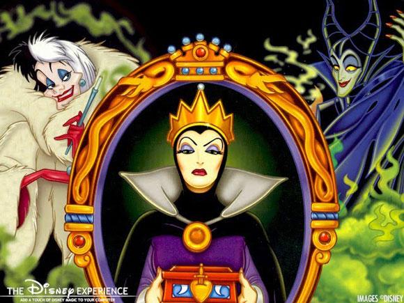Disney villains: Crudelia De Mon, Cruella De Vil, Grimilde, Evil Queen, Malefica, Maleficent