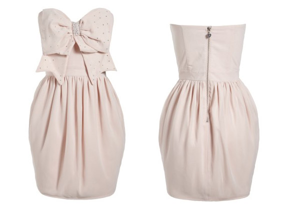 Lipsy - Studded Bow Detail Bustier Dress - abito kawaii