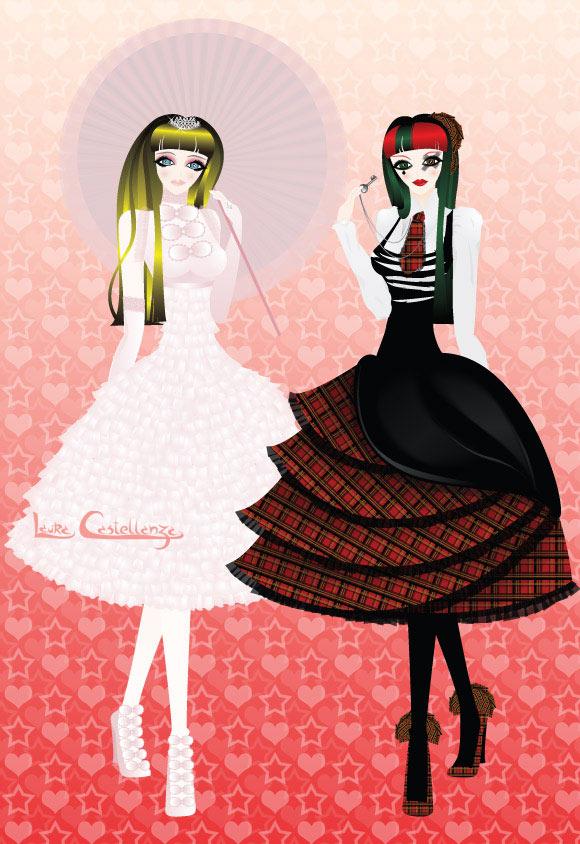 Laura Castellanza, kawaii Hime Lolita & Punk Lolita