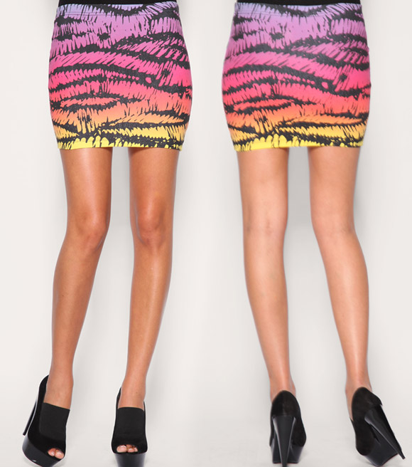 ASOS - Multicoloured Print Jersey Mini Skirt