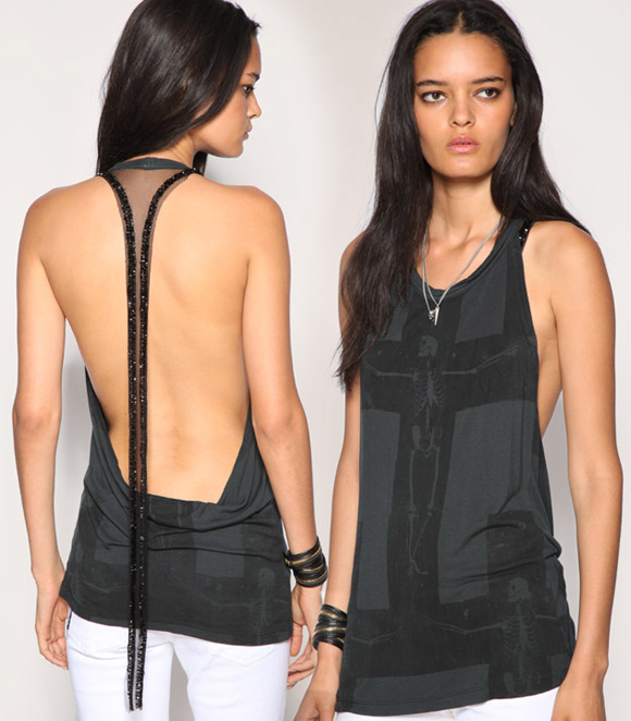 Religion - Sheer Racer Back Vest punk