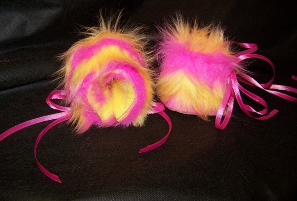 Furlicious Furs & Fleece - kawaii punk Cuffs Bracelet Wrist Band Furry Candy Rave