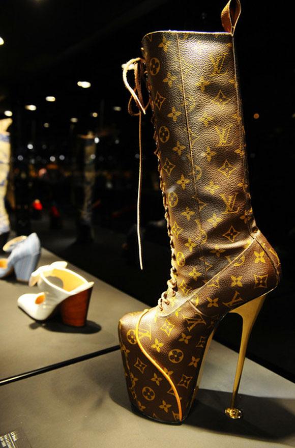 Vivienne Westwood Shoes: An Exhibition 1973- 2010, Louis Vuitton boot, 1995, Selfridges Ultra Lounge