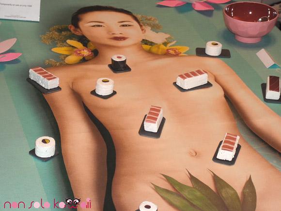 Yoshiko, the Nyotaimori - Body Sushi