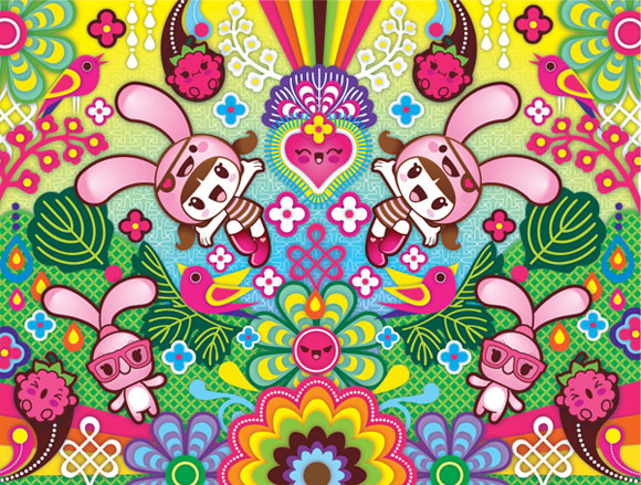 Charuca, happy kawaii character, personaggi felici e kawaii, Catalina Estrada & Charuca: Forever Love