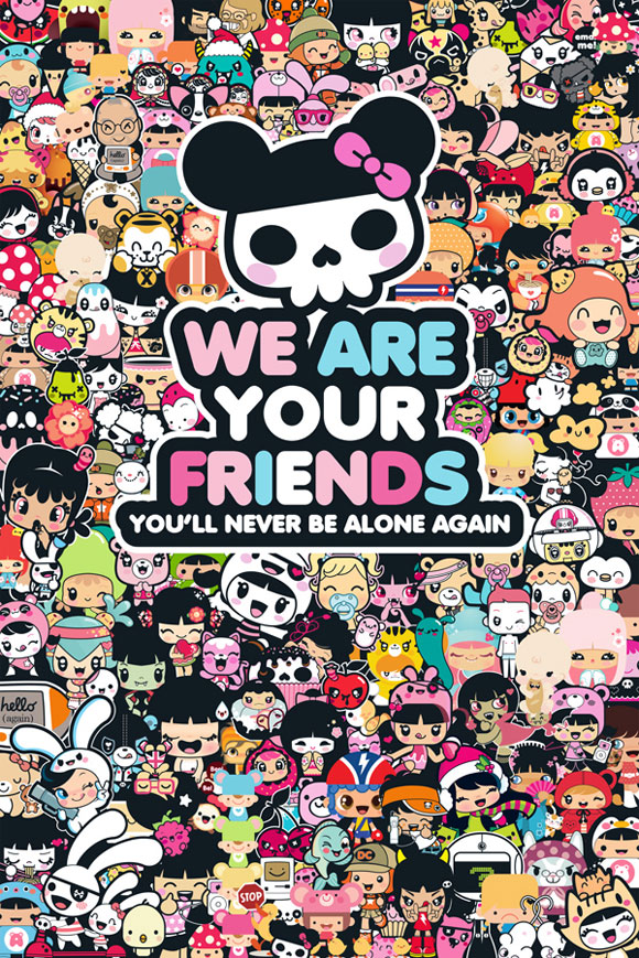 Charuca, happy kawaii character, personaggi felici e kawaii, Legion We are your Friend