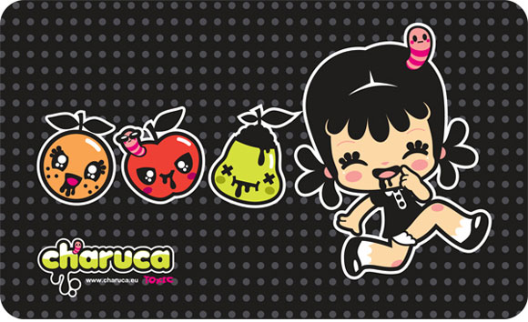 Charuca Toxic Fruits, happy kawaii character, personaggi felici e kawaii