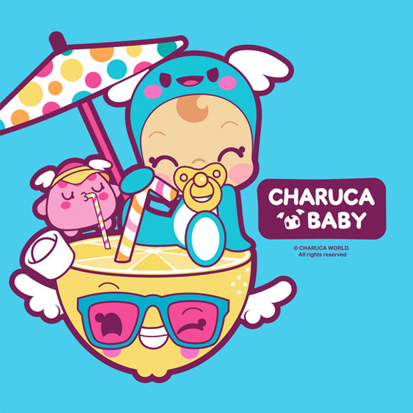 Charuca Baby, happy kawaii character, personaggi felici e kawaii