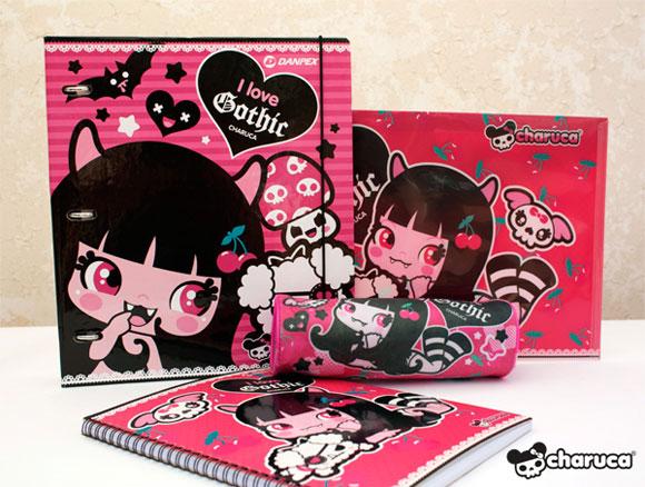 Charuca, happy kawaii character, personaggi felici e kawaii, I Love Gothic