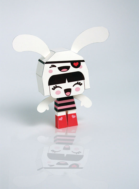 Charuca, happy kawaii character, personaggi felici e kawaii, Paper Toy