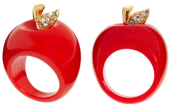 ModCloth - Ring of Knowledge - Anello Mela - Apple Ring