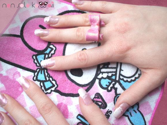 Miwa's nail art, Sweet Lolita