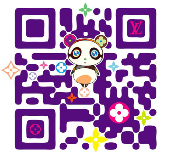 Takashi Murakami for Louis Vuitton - Superflat designed QR Code