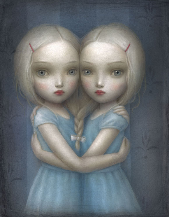 Nicoletta Ceccoli - Anima Gemella, gemelle kawaii / cute tweens