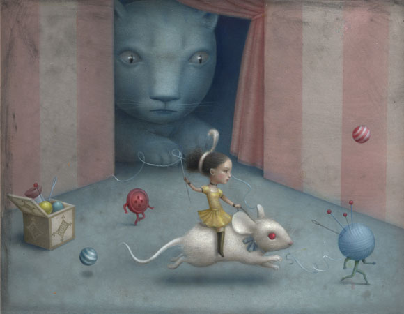 Nicoletta Ceccoli - Fille Mal Gardée, il gatto, il topo e la ragazza / cat, mouse and girl