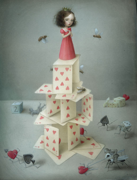 Nicoletta Ceccoli - Castello di Cuori, la regina di cuori / queen of hearts red