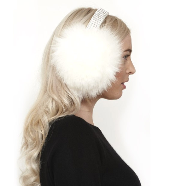 William Sharp - Earmuffs Cashmere and Crystallized Swarovski Elements