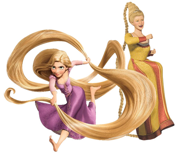 Rapunzel, Raperonzolo in Shrek e in Tangled, princess disney principessa