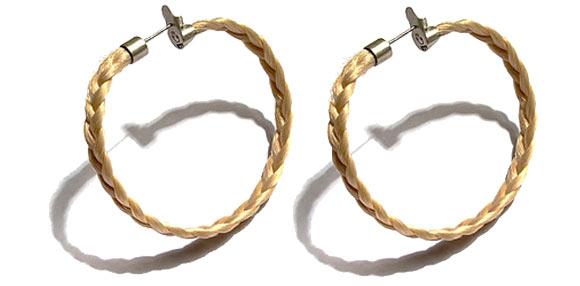 Van Der Glas - Plaited Human Hair Hoop Earring braid, orecchini di capelli e treccia