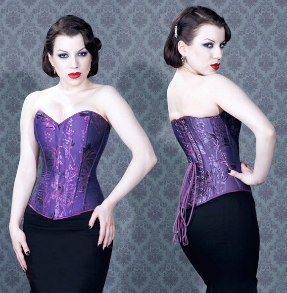 FairyGothMother - Bigger Bust Corset, purple corset, corsetto viola