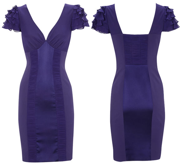 Karen Millen - Lingerie Dress, purple dress, vestito viola