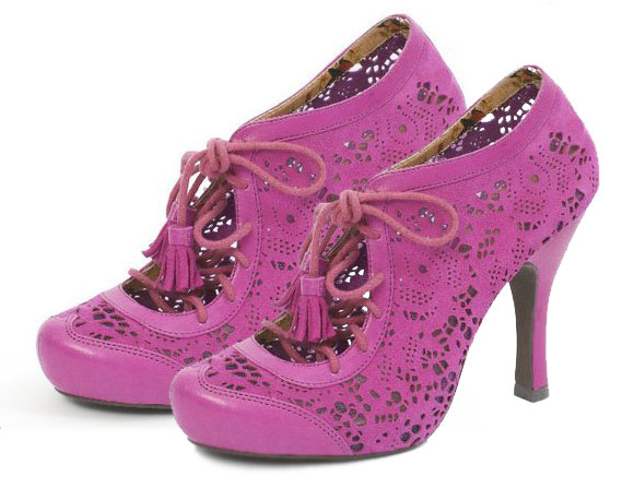 Miss L Fire - Anais Pink shoes kawaii, scarpe rosa kawaii