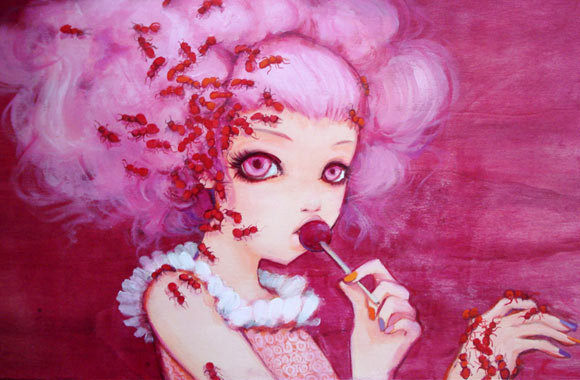 Camilla D'Errico - Cotton Candy Curly Cue, kawaii girl in pink
