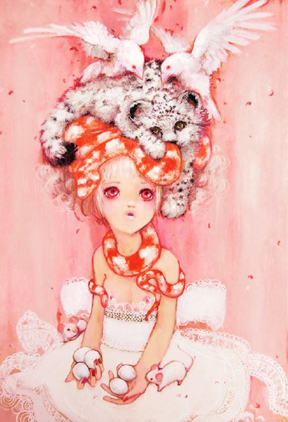 Camilla D'Errico - The Egg Picnic, kawaii girl in pink
