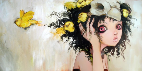 Camilla D'Errico - Birds Nest, cute girls with yellow birds