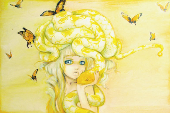 Camilla D'Errico - Yuuta, kawaii sexy girl with yellow snake