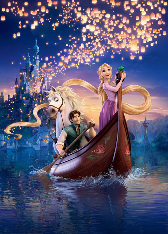 Tangled / Rapunzel - Pascal, Rapunzel, Flynn Rider (Eugene Fitzherbert), Maximus