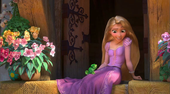 Tangled / Rapunzel - Pascal green and cute, verde e carino