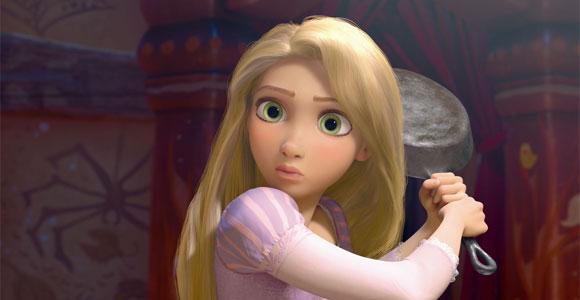 Tangled / Rapunzel - Rapunzel and her pan - e la sua padella