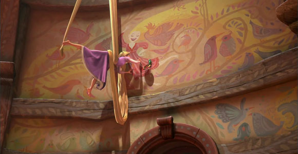 Tangled / Rapunzel - Rapunzel while is painting with her colors - mentre dipinge con i suoi colori