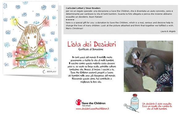 Save the Children - Il nostro Regalo per voi - Our Present for You