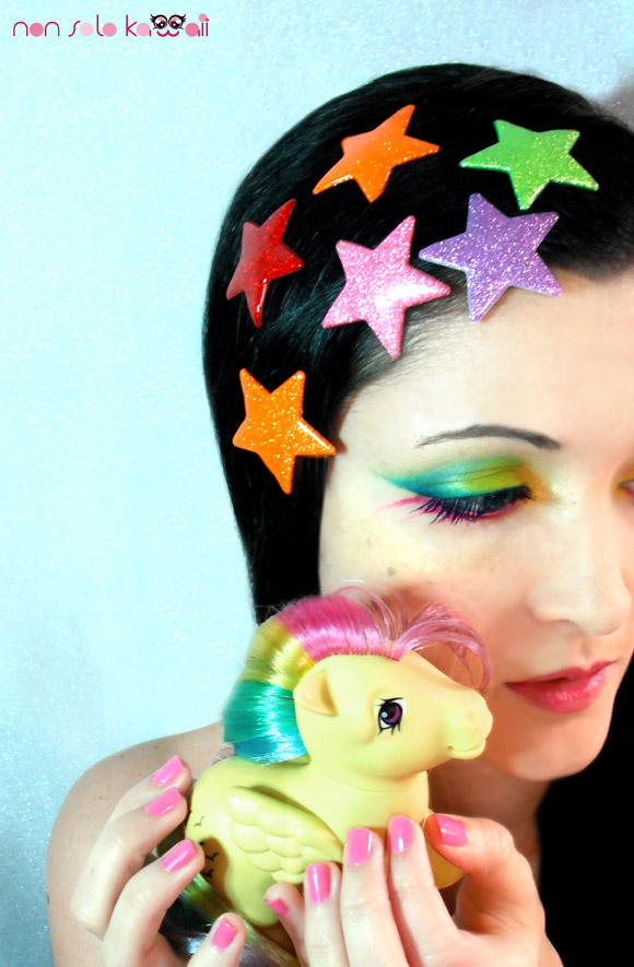 Rainbow Pony neve cosmetics swatch and make-up by non solo kawaii