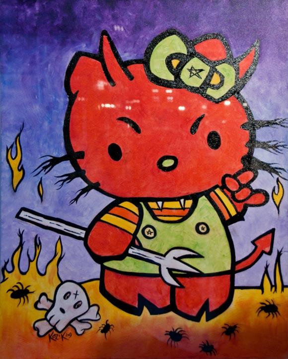 Frank Kozik - Empress Of The Underworld Hello Kitty,bad devil, diavoletta cattiva