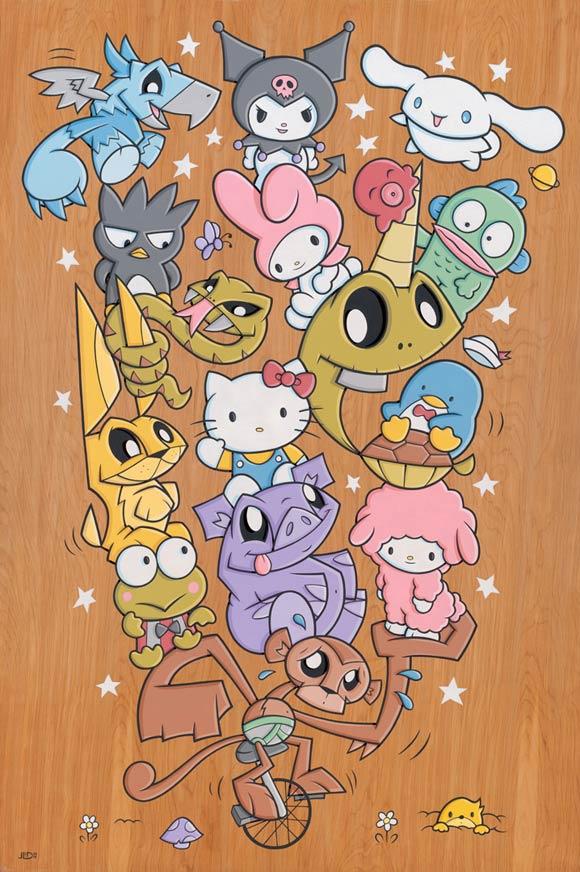 Joe Ledbetter - Carpool, kawaii and cute character sanrio illustration, hello kitty