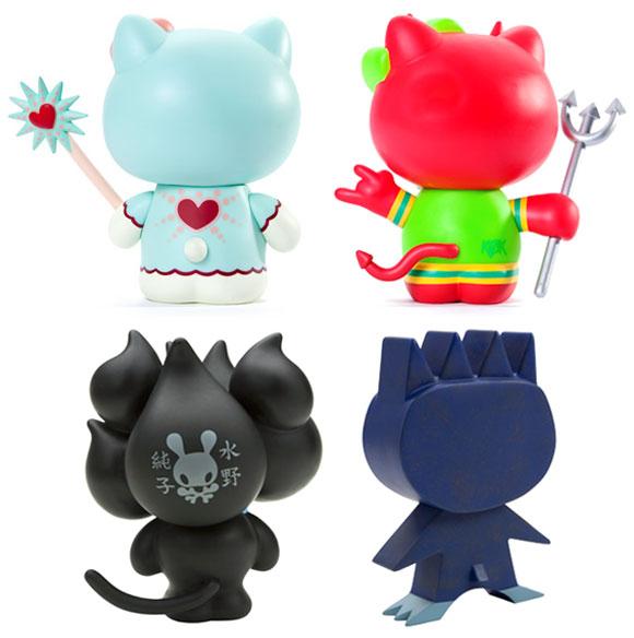 Kidrobot for Sanrio, back vinyl and toys custom