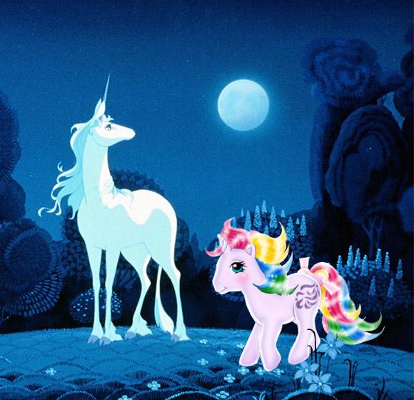 unicorni: The Last Unicorn vs My Little Pony