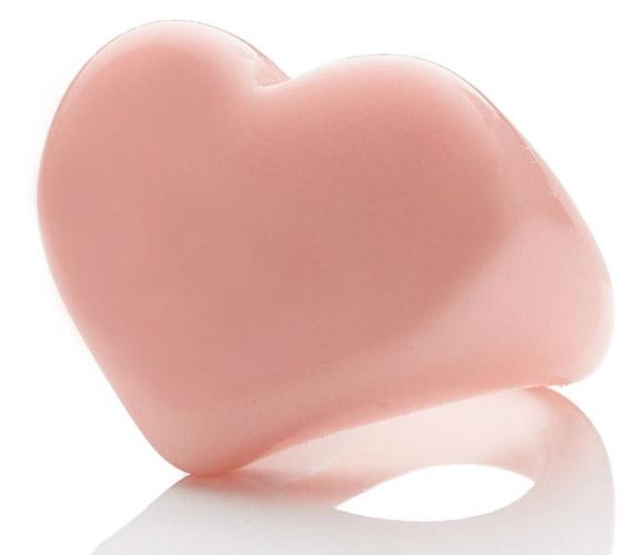 Accessorize - cute Plastic Heart Ring, anello di plastica rosa a cuore