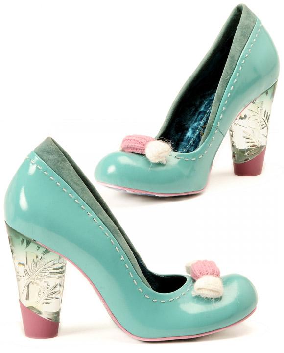 Irregular Choice - cute Tickling Loris Shoes, scarpe kawaii azzurre e rosa
