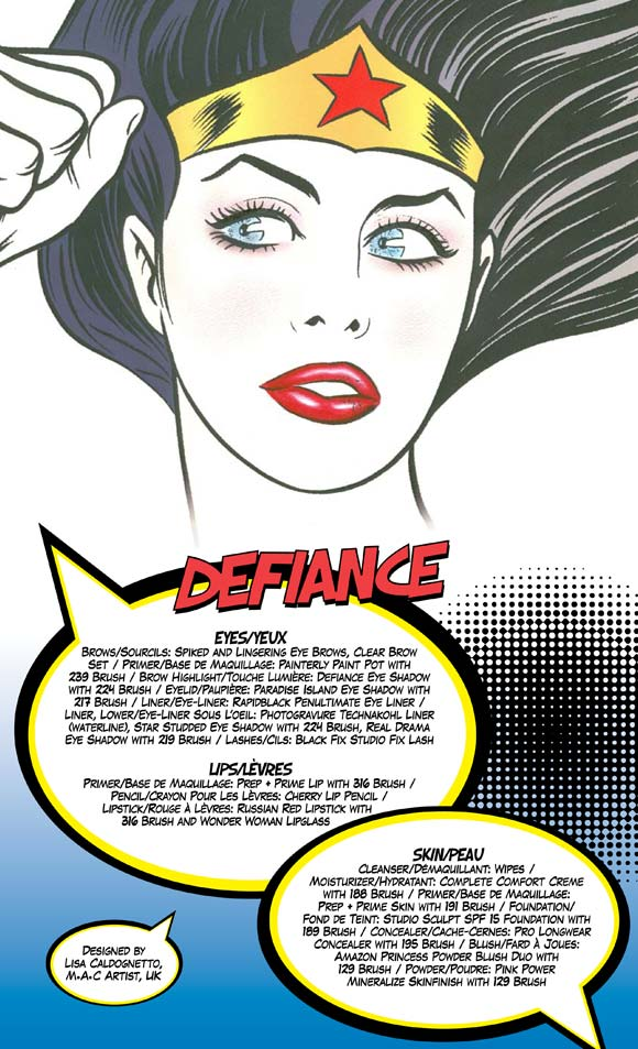 MAC Wonder Woman - Defiance Look