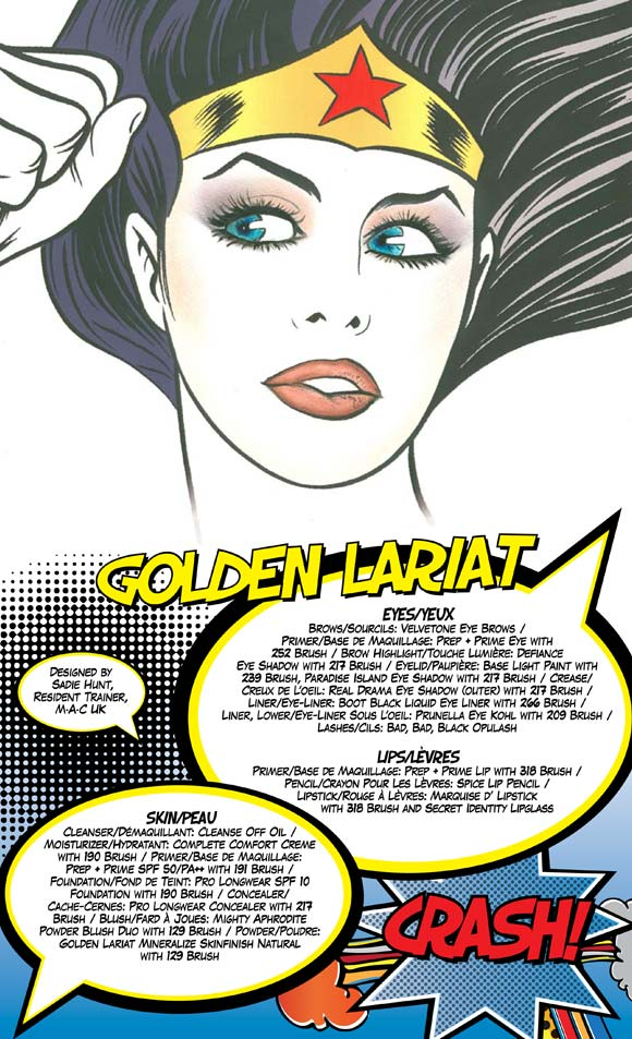 MAC Wonder Woman - Golden Lariat Look